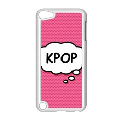 Comic Book Think Kpop Pink Apple iPod Touch 5 Case (White) by ComicBookPOP