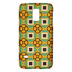 Flowers and squares pattern                                            			Samsung Galaxy S5 Mini Hardshell Case