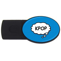 Comic Book Kpop Blue USB Flash Drive Oval (1 GB)  by ComicBookPOP