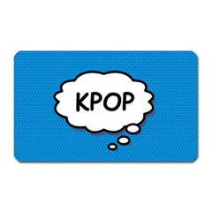 Comic Book Kpop Blue Magnet (Rectangular) by ComicBookPOP