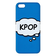 Comic Book Kpop Blue Apple iPhone 5 Premium Hardshell Case by ComicBookPOP