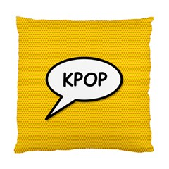 Comic Book Shout Kpop Orange Standard Cushion Case (one Side) by ComicBookPOP