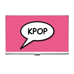Comic Book Shout Kpop Pink Business Card Holders by ComicBookPOP