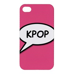 Comic Book Shout Kpop Pink Apple Iphone 4/4s Hardshell Case by ComicBookPOP