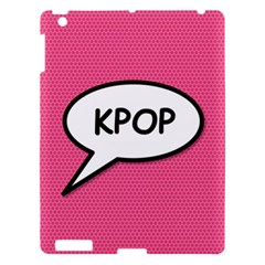 Comic Book Shout Kpop Pink Apple Ipad 3/4 Hardshell Case by ComicBookPOP