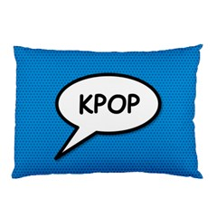 Comic Book Shout Kpop (blue) Pillow Case by ComicBookPOP