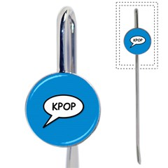 Comic Book Shout Kpop (blue) Book Mark by ComicBookPOP