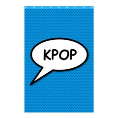 Comic Book Shout Kpop (blue) Shower Curtain 48  X 72  (small)  by ComicBookPOP