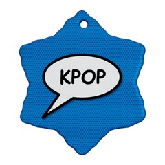 Comic Book Shout Kpop (blue) Snowflake Ornament (2 Side) by ComicBookPOP