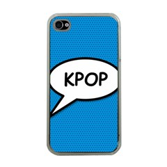 Comic Book Shout Kpop (blue) Apple Iphone 4 Case (clear) by ComicBookPOP