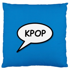 Comic Book Shout Kpop (Blue) Standard Flano Cushion Case (Two Sides) by ComicBookPOP