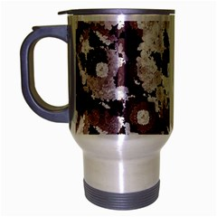 Ornate Modern Floral Travel Mug (silver Gray) by dflcprints