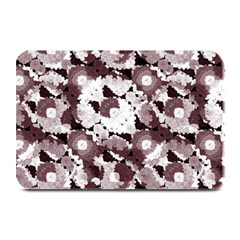 Ornate Modern Floral Plate Mats by dflcprints