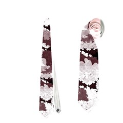 Ornate Modern Floral Neckties (one Side)  by dflcprints