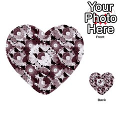 Ornate Modern Floral Multi Purpose Cards (heart)  by dflcprints