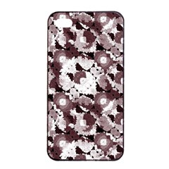 Ornate Modern Floral Apple Iphone 4/4s Seamless Case (black) by dflcprints