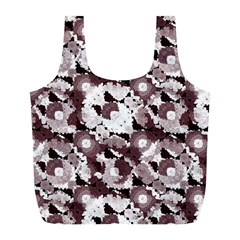 Ornate Modern Floral Full Print Recycle Bags (l)  by dflcprints
