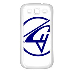 Sukhoi Aircraft Logo Samsung Galaxy S3 Back Case (White) by Casanova