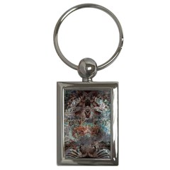 Metallic Copper Patina Urban Grunge Texture Key Chain (rectangle) by CrypticFragmentsDesign