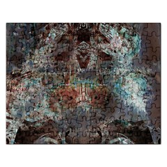 Metallic Copper Patina Urban Grunge Texture Jigsaw Puzzle (rectangular) by CrypticFragmentsDesign