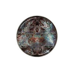 Metallic Copper Patina Urban Grunge Texture Hat Clip Ball Marker (10 Pack) by CrypticFragmentsDesign