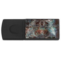 Metallic Copper Patina Urban Grunge Texture Usb Flash Drive Rectangular (4 Gb) by CrypticFragmentsDesign