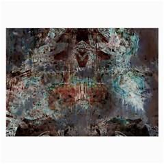 Metallic Copper Patina Urban Grunge Texture Large Glasses Cloth by CrypticFragmentsDesign