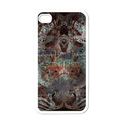 Metallic Copper Patina Urban Grunge Texture Apple Iphone 4 Case (white) by CrypticFragmentsDesign
