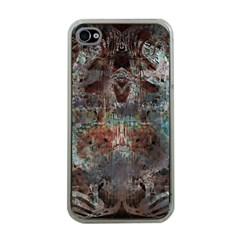 Metallic Copper Patina Urban Grunge Texture Apple Iphone 4 Case (clear) by CrypticFragmentsDesign