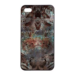 Metallic Copper Patina Urban Grunge Texture Apple Iphone 4/4s Seamless Case (black) by CrypticFragmentsDesign