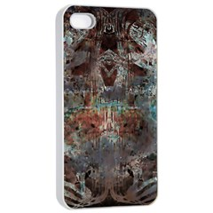Metallic Copper Patina Urban Grunge Texture Apple Iphone 4/4s Seamless Case (white) by CrypticFragmentsDesign