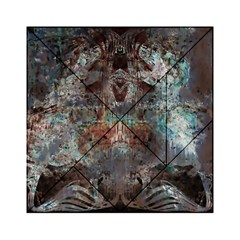 Metallic Copper Patina Urban Grunge Texture Acrylic Tangram Puzzle (6  X 6 ) by CrypticFragmentsDesign