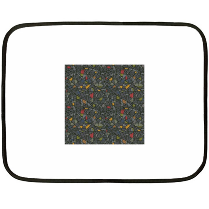 Abstract Reg Double Sided Fleece Blanket (Mini)