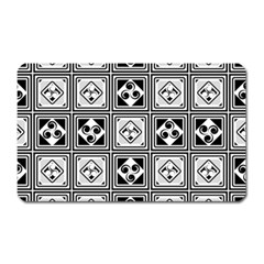 Black And White Magnet (rectangular) by FunkyPatterns