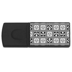 Black And White Usb Flash Drive Rectangular (4 Gb)  by FunkyPatterns