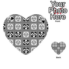 Black And White Playing Cards 54 (heart)  by FunkyPatterns