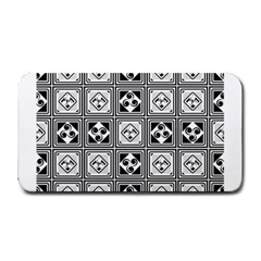 Black And White Medium Bar Mats by FunkyPatterns