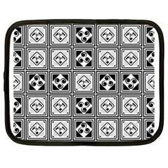 Black And White Netbook Case (xl)  by FunkyPatterns