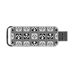 Black And White Portable Usb Flash (two Sides) by FunkyPatterns