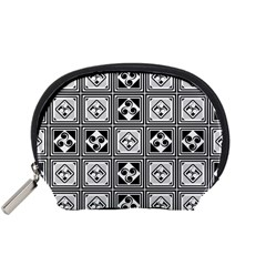 Black And White Accessory Pouches (small)  by FunkyPatterns