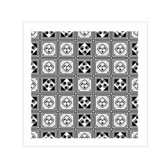 Black And White Small Satin Scarf (square) by FunkyPatterns