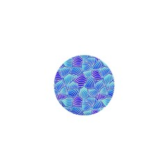 Blue And Purple Glowing 1  Mini Buttons by FunkyPatterns