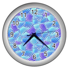 Blue And Purple Glowing Wall Clocks (silver)