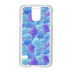 Blue And Purple Glowing Samsung Galaxy S5 Case (white) by FunkyPatterns