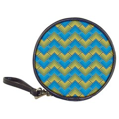 Blue And Yellow Classic 20 Cd Wallets by FunkyPatterns