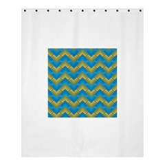 Blue And Yellow Shower Curtain 60  X 72  (medium)  by FunkyPatterns