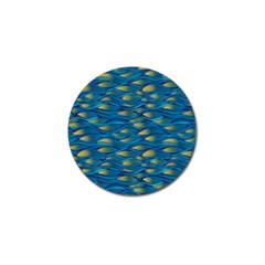 Blue Waves Golf Ball Marker (4 Pack) by FunkyPatterns