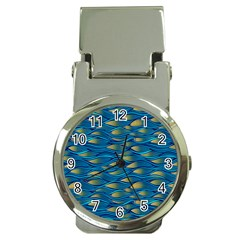 Blue Waves Money Clip Watches by FunkyPatterns
