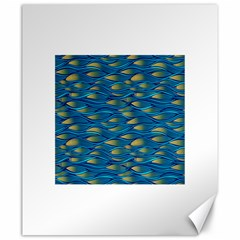 Blue Waves Canvas 20  X 24   by FunkyPatterns
