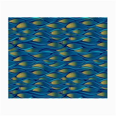 Blue Waves Small Glasses Cloth (2 Side) by FunkyPatterns
